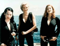 Charlie's Angels is a 2000 American action comedy film directed by McG, starring Cameron Diaz, Drew Barrymore, and Lucy Liu as three women working for a private investigation agency. Description from withfriendship.com. I searched for this on bing.com/images