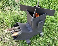 Estufa de cohete * parte superior desmontable y la alimentación * Camping estufa de madera estufa de emergencia estufa supervivencia Portable