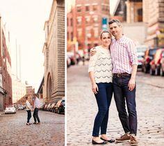 Brooklyn DUMBO engagement shoot love. Photos by Casey Fatchett Photography - www.fatchett.com