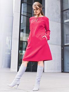 Split Neck Dress (Plus Size) 10/2014