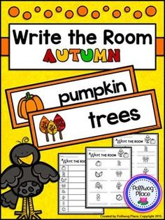 Write the Room - Autumn -- Includes vocabulary cards, differentiated recording sheets, plus writing extension pages ($)