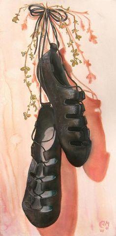 Irish Dance Shoes Painting