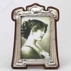 Art Nouveau Silver Mounted Photograph Frame by FJ Hall Birmingham 1904 Vintage Silver, Antique Silver, Mantle Clock, Antique Frames, Art Nouveau Design, See Images, Art Deco Fashion, Art Decor, Antiques