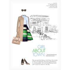 GIRL ABOUT TOWN by paint-it-black featuring RED Valentino, Lanvin, Hallhuber, Giambattista Valli, Versace, Linda Farrow, graphicprint and smar...