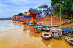 View of Varanasi on river Ganges, India. https://www.facebook.com/SuitcasesAndSunglasses