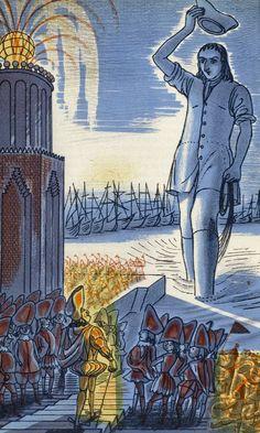 Edward Bawden — Gulliver's Travels (1965) Lithographs. The Folio...