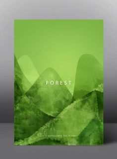 Forest - Let's appreciate the planet - Graphic Poster Series by jDstyle #graphicart