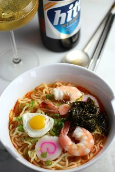 Kimchi Ramen with Korean Fried Dumpling