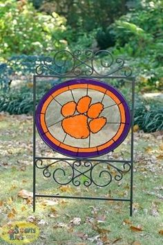 Gosh, I'd love one of these!! NCAA Clemson Tigers Yard Sign