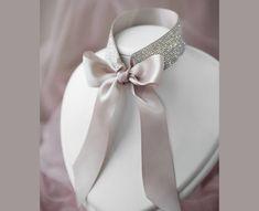 Diamond Choker, Rhinestone Choker, Crystal Choker, Crystal Jewelry, Bow Choker, Bridesmaid Jewelry, Bridesmaids, Bridal Necklace, Wedding Jewelry