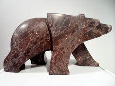 http://jasoncarter.ca/carvings/  WalkingBearWalks18x7x9  soapstone