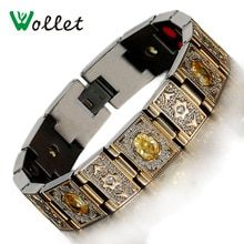 Compare Price Wollet Jewelry Health Yellow Or Purple Red Zircon Bio Magnetic Germanium Infrared Negative Ion Gold Color Titanium Bracelet Men Bracelet Men, Bracelets For Men, Bangle Bracelets, Bangles, Necklaces, Gold Plated Bracelets, Crystal Bracelets, Jewelry Sets, Men's Jewelry
