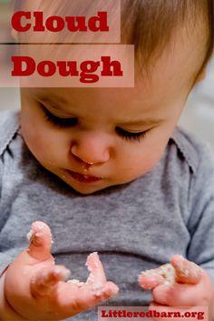 Two Ingredient Baby Safe Cloud Dough Sensory Paly: Littleredbarn