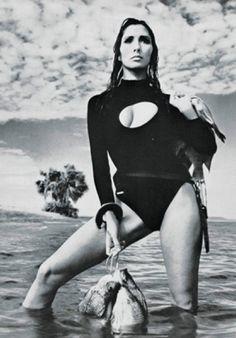 Photo by Giampaolo Barbieri, Feb. 1969, Naka suit, Vogue Italia.