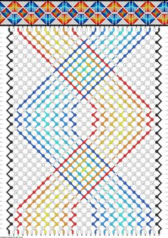 Friendship bracelet pattern 63168 -  34 strings, 10 colours new