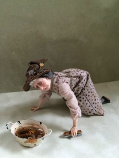 D/house miniature 'Aggie the witch' 1/12th doll H/made by The Giddy Kipper in Dolls & Bears, Dolls' Miniatures & Houses, Hand-Made Items | eBay