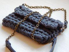 Crochet bag crochet clutch clutch with chain by OlgasHandMadeWorld