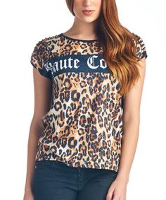 Look what I found on #zulily! Brown Leopard 'Haute Couture' Top by Charlie Charlie #zulilyfinds