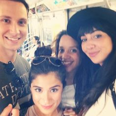"Bennett, Maritza, Daya, and Flaca on the subway. | The Cast Of ""Orange Is The New Black"" Doing Normal Stuff Together Is So..."