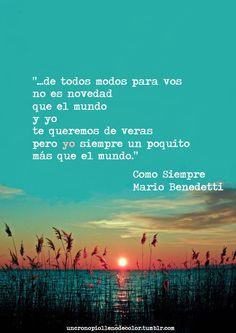 Mario Benedetti - Como Siempre