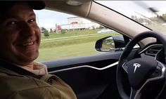 A still from a YouTube video of Joshua Brown in the driver's seat of his Tesla Model S. Brown died while the car was in autopilot mode.