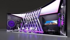 """""""Intiled"""" company exhibition stand concept."""