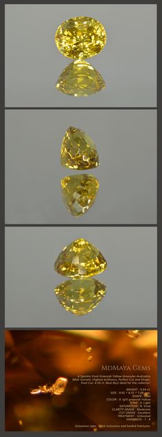 A Sparkle Vivid Greenish Yellow Mali Garnet (Grossular-Andradite). Highest brilliancy, Perfect Cut and Shape. Oval Cut. 4.54 ct. Best Buy! Ideal for the collector! WEIGHT : 4.54 ct. SIZE : 9.91 * 8.31