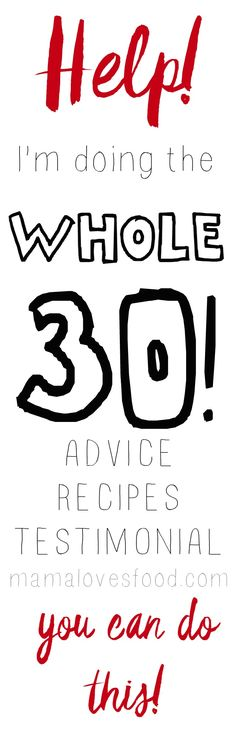 The Whole30 from someone who's done it! Find recipes, advice, and a record of what I ate for all 30 days! You can do the Whole 30!