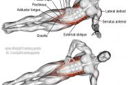Lying side hip raise exercise