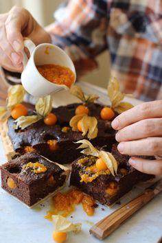 Chocolate bakewell physalis tarte| London fridge