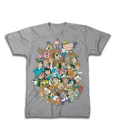 Love this Sport Gray Hanna-Barbera Super-Group Tee - Men's Regular by Freeze on #zulily! #zulilyfinds