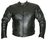 NEW MENS MOTORCYCLE HARD ARMOR LEATHER JACKET BLACK 46 $99.99