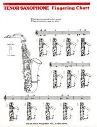 Fingering Chart-Tenor Sax (Tenor Saxophone F | J.W. Pepper Sheet Music
