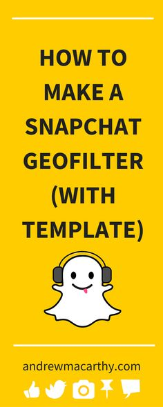 Do you want to learn how to make a Snapchat geofilter? I'll show you how, with links to download the geofilter image template for Adobe Photoshop and Illustrator, too. Snapchat allows anybody to create a geofilter and upload it for the community to discover; a privilege that was once only granted to members of the Snapchat team.