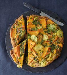 Rezept für Kürbis-Kartoffel-Tortilla bei Essen und Trinken. Und weitere Rezepte in den Kategorien Eier, Gemüse, Kartoffeln, Kräuter, Milch + Milchprodukte, Hauptspeise, Pikante Kuchen / Pizza, Braten, Dünsten, Einfach, Vegetarisch.