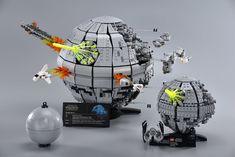 Battle of Endor 23 Star Wars Droids, Lego Star Wars, Star Trek, Lego Memes, Lego Creative, Micro Lego, Lego Sculptures, Lego Display, All Lego
