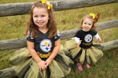 steelers :)  my girl will wear this for sure.. daddy can have his boy sport the redskins gear ;)