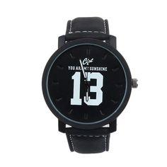 1PC Lovers Analog Large Dial Sports Leather Strap Quartz Wrist Watch Men women Leather Quartz relogios masculino feminino reloj #Affiliate