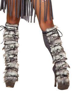 Grey Indian Costume Faux Fur Leg Warmers - ONE SIZE Roma Costume http://www.amazon.com/dp/B00F8D6FIK/ref=cm_sw_r_pi_dp_1JPhwb1CA903G