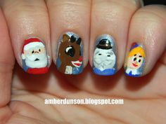 Rudolph the Red Nosed Reindeer Nails