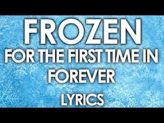 Frozen For The First Time In Forever lyrics