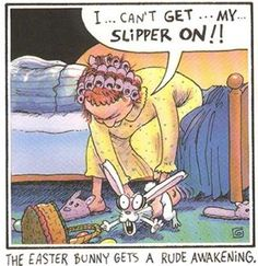 The Easter Bunny Gets A Rude Awakening - Easter Pictures Easter Humor Easter Jokes and Easter Cartoons Funny Easter Jokes, Easter Cartoons, Funny Jokes, Hilarious, Easter Bunny Jokes, Easter Poems, Easter Card, Cartoon Jokes, Funny Cartoons