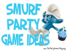 "Smurf Party Game Ideas Papa Smurf Says like Simon Says, Smurf. Smurf, Gargamel like Duck, Duck, Goose Pop A Smurf – Blue Balloons + smurf name inside => acting the name Gargamel's Hide n Seek Papa Smurf""s Potion Azrael's Tail Chase Smurfs Bingo Movie Party, Party Time, Birthday Party Games, Birthday Ideas, 8th Birthday, Childrens Party, Craft Party, Party Gifts, Game Ideas"