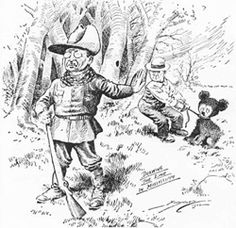 История мишек Тедди - Colors.life Карикатура с участием медвежонка и мягкосердечного президента ( Теодора Рузвельта).