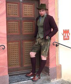 German Men, Men In Heels, Lederhosen, Style Snaps, Complete Outfits, Man Photo, Traditional Dresses, Beautiful Men, Menswear