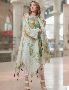 After the great success of Rang Rasiya luxury lawn collection 2017 volume the famous fashion brand of Pakistan brings another luxury summer collection with new designs and fashion. Pakistani Bridal Dresses, Pakistani Dress Design, Pakistani Outfits, Indian Outfits, Pakistani Mehndi, Stylish Dresses, Casual Dresses, Fashion Dresses, Eid Dresses