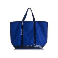 15241d7c97f Sac Cabas Vanessa Bruno toile et sequins MEDIUM+ Bleu