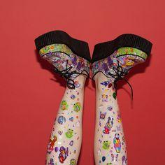My Lisa Frank Creepers custom made @ FEELING VAGUE VINTAGE on etsy