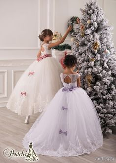 Dress For Girls 2015 Beautiful Flower Girls Dresses For Weddings Jewel Collar Applique Rhinestone Sash Bow Tulle Kids Formal Wear With Floor Length Simple Flower Girl Dress From Liuliu8899, $115.71| Dhgate.Com