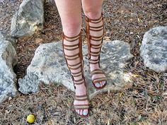 Gladiator Sandals  Lace Up Sandals  Boho by ShangrilaFashion